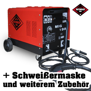 schutzgas schwei ger t mig mag 195 ampere ac dc fahrbar ebay. Black Bedroom Furniture Sets. Home Design Ideas