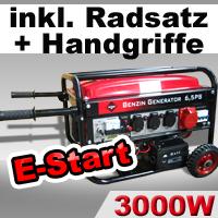 ROTENBACH-Stromerzeuger-Stromaggregat-E-Start-Generator-3-kW-Benzinmotor-6-5-PS