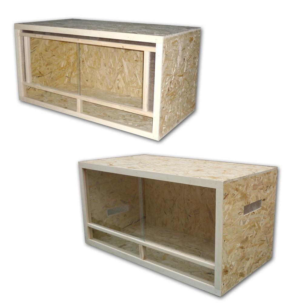 terrarium 150x60x60 cm osb panneaux bois verre ebay. Black Bedroom Furniture Sets. Home Design Ideas