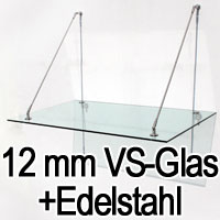 vordach glasvordach edelstahl glas haust r dach 344 ebay. Black Bedroom Furniture Sets. Home Design Ideas