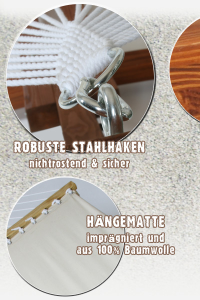 xxl h ngemattengestell mit matte holz h ngematte mit gestell ebay. Black Bedroom Furniture Sets. Home Design Ideas